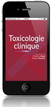 smartphone avec application Toxicologie clinique