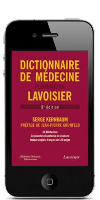 smartphone avec application dictionnaire de médecine Kernbaum
