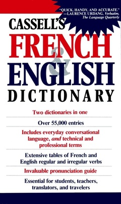 Couverture de l'ouvrage Cassell's French English/English French dictionary (paper)