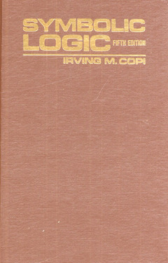 Cover of the book Symbolic logic, 5th ed 1979
