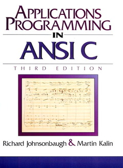 Couverture de l'ouvrage Applications programming in ANSI C (3rd ed' 96) paper