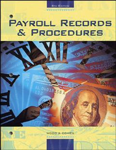 Couverture de l'ouvrage Payroll records and procedures (4th ed )