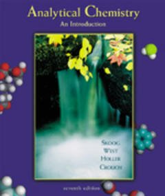 Couverture de l'ouvrage Analytical chemistry: an introduction (7th ed' 99)