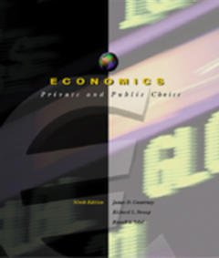 Cover of the book Economics : private and public choice (9th ed 1999)