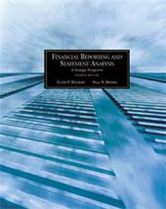 Couverture de l'ouvrage Financial reporting statement analysis, a strategic perspective, 4th ed.