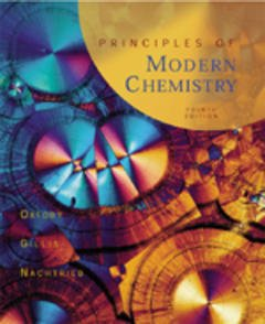 Couverture de l'ouvrage Principles of modern chemistry (4th ed '98)