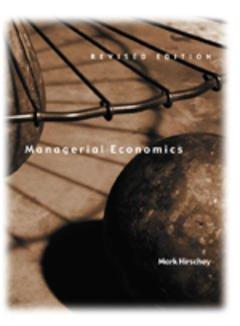Couverture de l'ouvrage Managerial economics, revised edition
