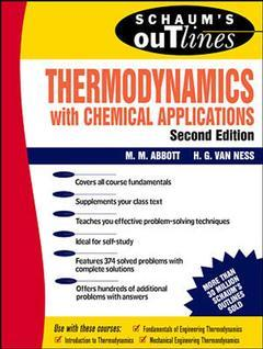 Couverture de l'ouvrage Thermodynamics (Schaum), 2nd ed 89 theory and problems