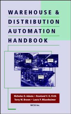 Couverture de l'ouvrage Warehouse & distribution automation handbook
