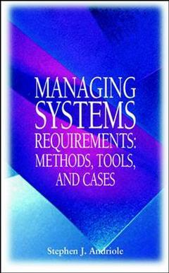 Couverture de l'ouvrage Systems requirements and process reengineering : a modeling and prototyping guide