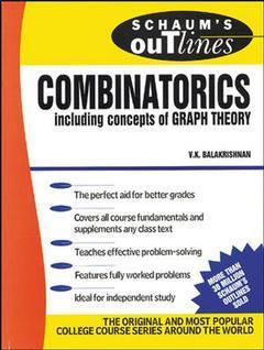 Couverture de l'ouvrage Schaum's outline of combinatorics (paper)