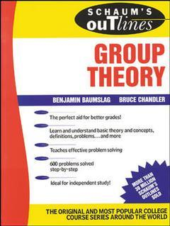 Cover of the book Group theory (Schaum's outline series)