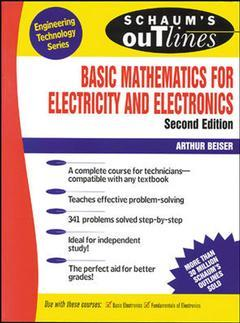 Cover of the book Schaum's outline of basic mathematics for electricity and electronics
