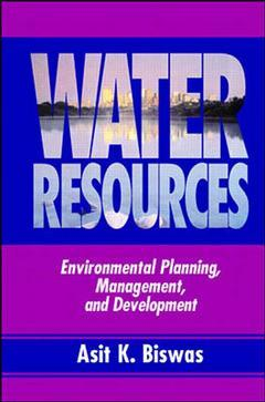 Cover of the book Water resources environmental planning, management and development
