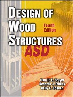 Couverture de l'ouvrage Design of wood structures, ASD (4th ed 1998)