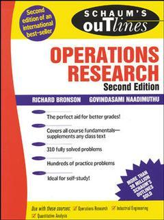 Couverture de l'ouvrage Schaum's outline of operations research, 2nd ed 1997 (paper)