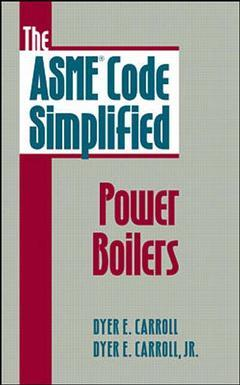 Couverture de l'ouvrage The ASME code simplified