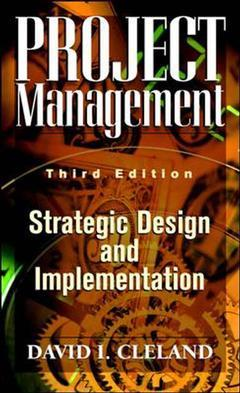 Cover of the book Project management: strategic design & implementation, 3rd ed 1998