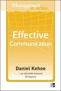 Cover of the book Management in action: effective communication