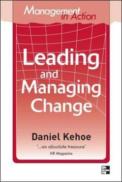 Cover of the book Management in action leading and managing change