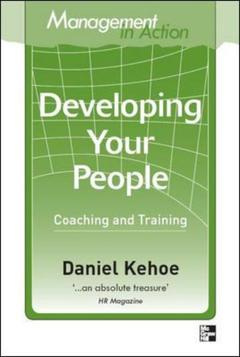 Couverture de l'ouvrage Management in action: developing your people