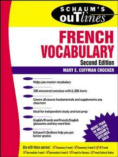 Couverture de l'ouvrage Schaum's outline of french vocabulary, 2nd ed 1997