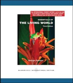 Couverture de l'ouvrage Essentials of the living world (3rd ed )