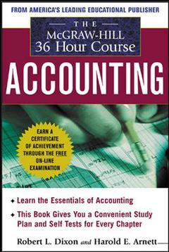 Couverture de l'ouvrage The Mac Graw Hill 36-hour Accounting course