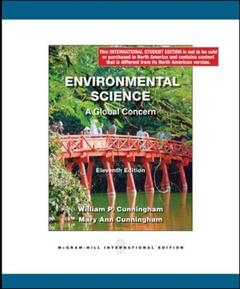 Couverture de l'ouvrage Environmental science: a global concern (11th ed )