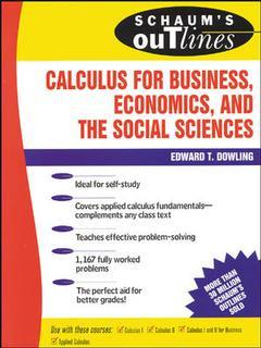 Couverture de l'ouvrage Calculus for business, economics and the social sciences (Schaum's outline series)