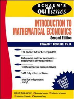 Couverture de l'ouvrage Introduction to mathematical economics (2nd ed 1992 / Schaum's outline series)