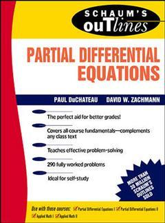 Couverture de l'ouvrage Partial differencial equations (Schaum)