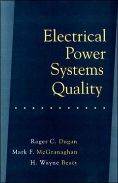 Couverture de l'ouvrage Electrical power systems quality
