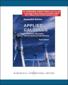 Couverture de l'ouvrage Applied calculus for business economics and the social and life sciences expanded edition (10th ed )