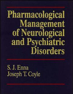 Couverture de l'ouvrage Pharmacological management of neurological & psychiatric disorders