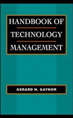 Couverture de l'ouvrage Handbook of technology management