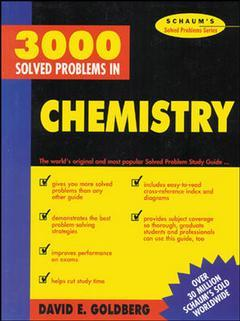 Cover of the book 3000 solved problems in chemistry (Schaum's solved problems series)