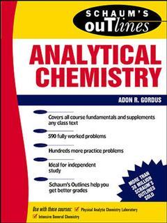 Couverture de l'ouvrage Analytical chemistry (Schaum's outline series)