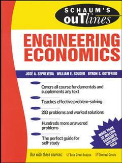 Cover of the book Engineering economics (Schaum's outline series)