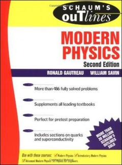 Cover of the book Schaum's outline of modern physics, 2nd ed 1999