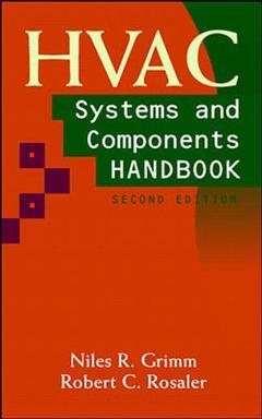 Couverture de l'ouvrage HVAC systems and components handbook (2nd ed' 97)