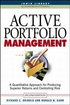 Cover of the book Active portfolio management, 2nd Ed.