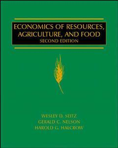 Couverture de l'ouvrage Economics of resources, agriculture and food