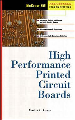 Cover of the book High performance printed circuit boards
