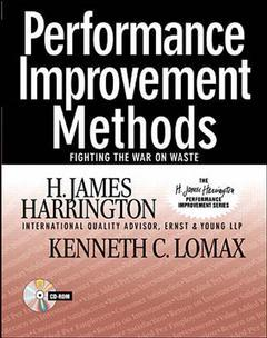 Couverture de l'ouvrage Performance improvement methods, growing individual and organizational improvement skills