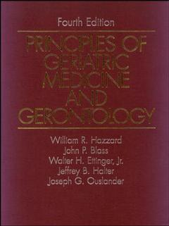 Cover of the book Principles of geriatric medicine and gerontology 4th ed 1998