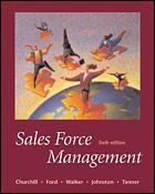 Couverture de l'ouvrage Sales force management, 6th ed 2000 with CD ROM