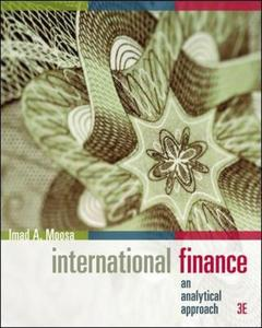 Couverture de l'ouvrage International finance, an analytical approach