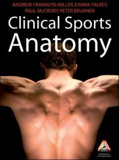 Couverture de l'ouvrage Clinical sports anatomy
