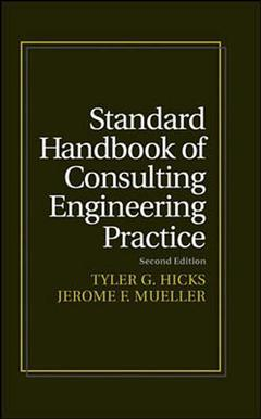 Couverture de l'ouvrage Standard handbook of consulting engineering practice, 2nd ed 1996